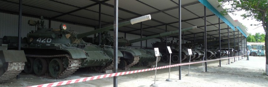 Танки в музее автомотостарины на Садгороде во Владивостоке