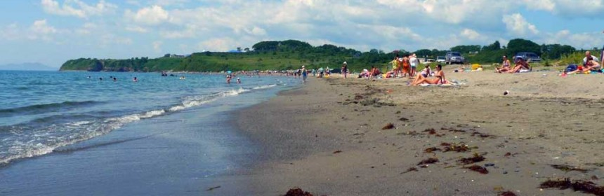 пляж Золотари в Находке