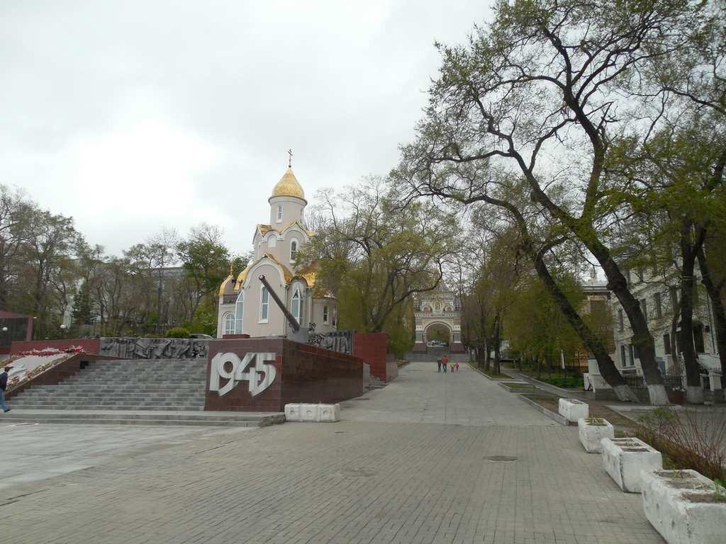 Вид на Храм и арку