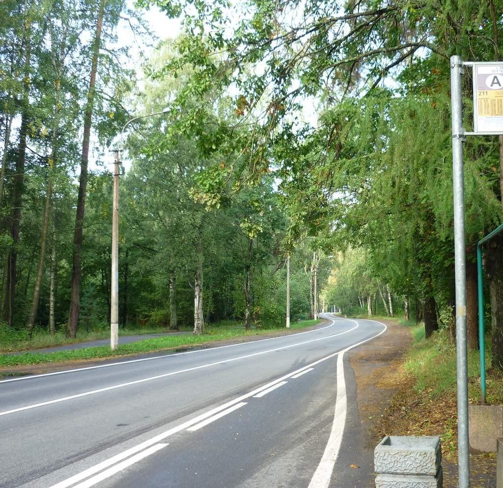 дорога до санатория в Зеленогорске