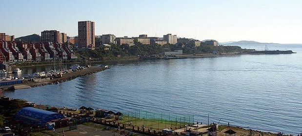 Вид из окна в гостинице Амурский залив