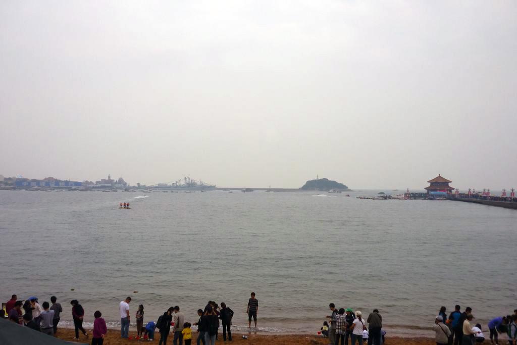 мост-пирс Чжаньцяо на набережной Циндао