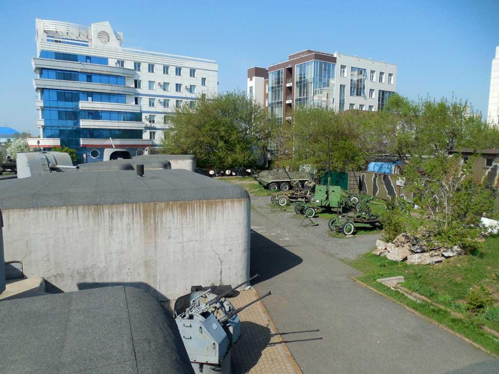Орудия в музеи крепость Владивосток