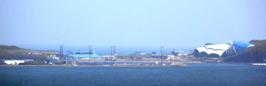 Океанариум на Русском острове, вид с моря