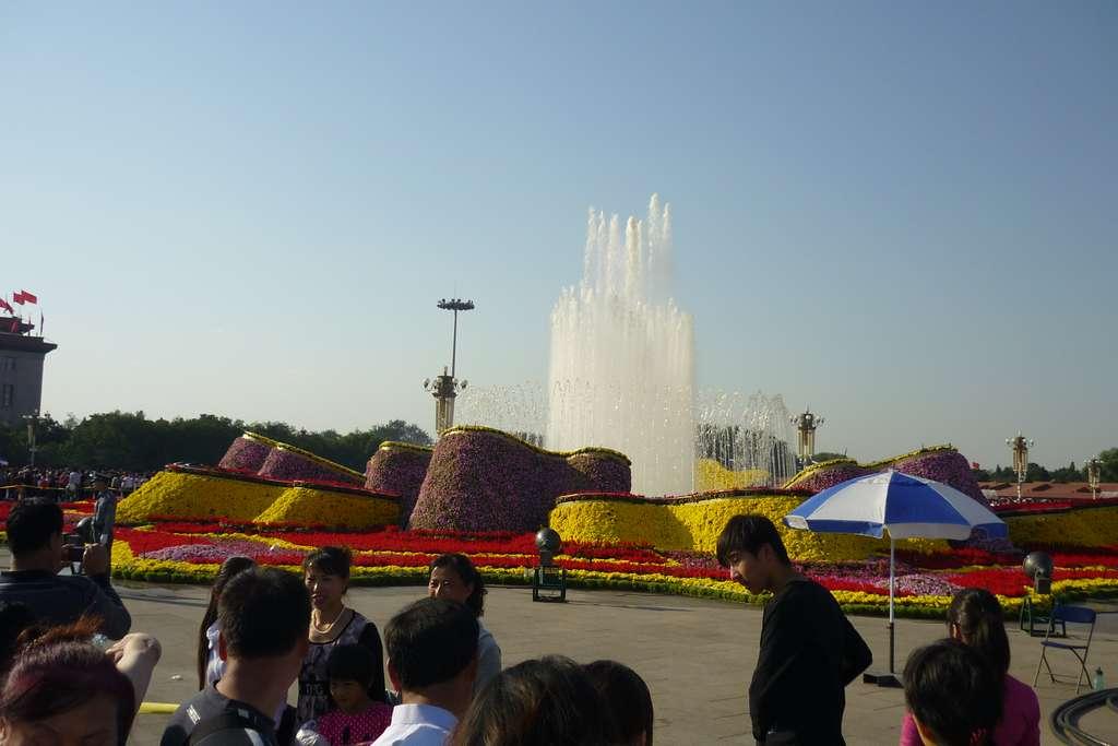 фонтан на площади Тяньаньмэнь